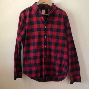Gap Men's Plaid Button Up Shirt